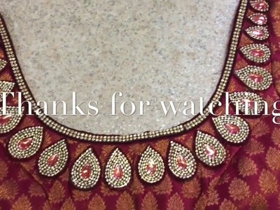 HOW TO MAKE DESIGNER BLOUSE AT HOME.D-I-Y DESIGNER SAREE BLOUSE.D-I-Y PATCHES