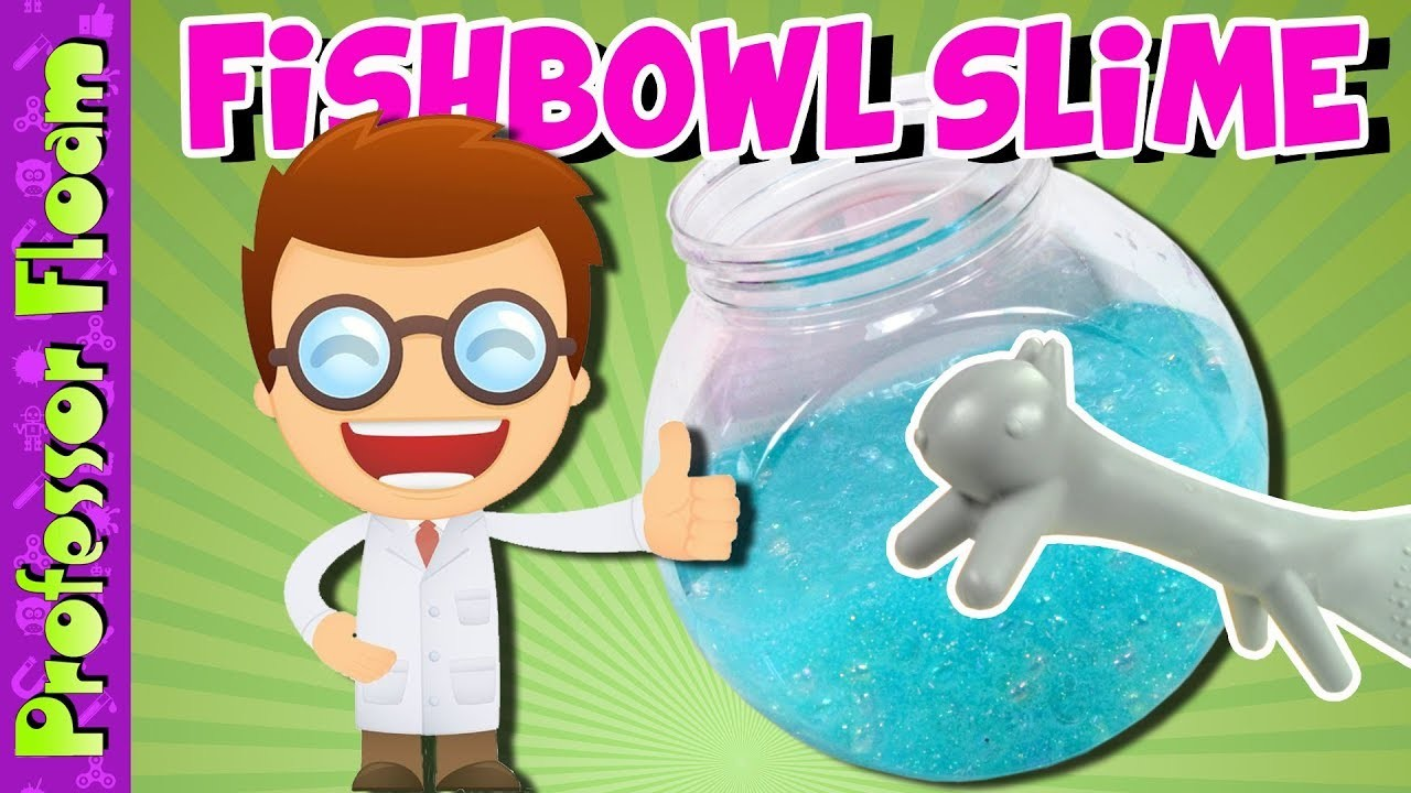 How To Make Fishbowl Slime ~ DIY Crunchy Glitter Fishbowl Slime Tutorial, Easy Fishbowl Slime Recipe