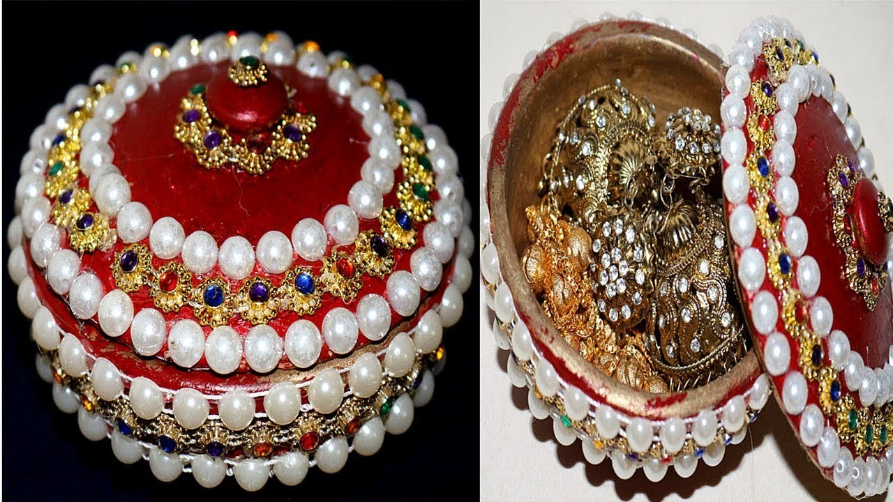 How To Make Jewellery Box At Home With Waste Material Homemade Jewelry Ideas