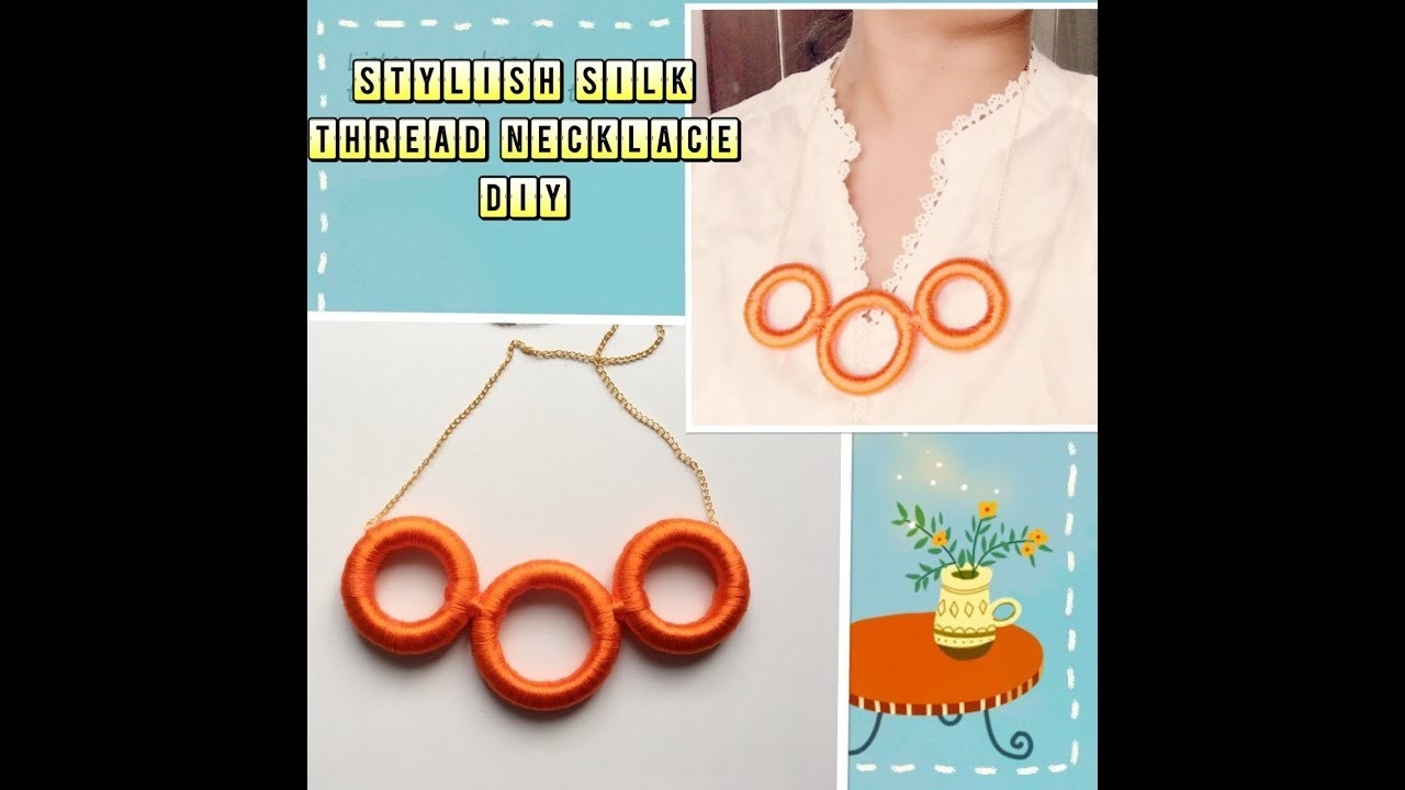 how to make silk thread necklace pendant
