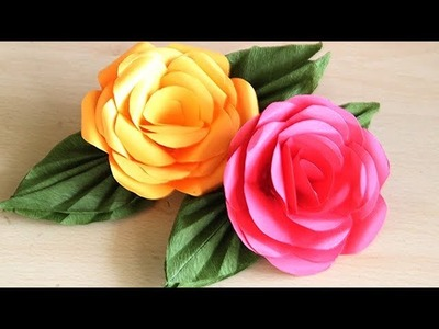 How to make UNIQUE ROSE  PAPER FLOWER. DIY Paper Crafts - Paper Flower Tutorial Step by Step