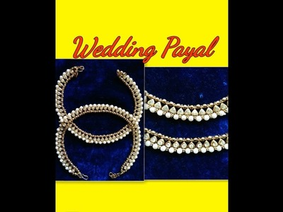 How to make wedding jewelry making-payal.silk thread payal at home.art my passion 7