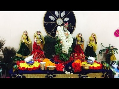 Janmastami Decoration || At my Home  ||  Handmade Crafts  ||  Flower decoration  ||  DIY