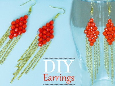 Make Quick and easy bridal earrings | DIY Beautiful earrings | Bridal jewelry design