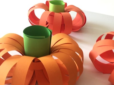 New and easier way to make a paper pumpkin