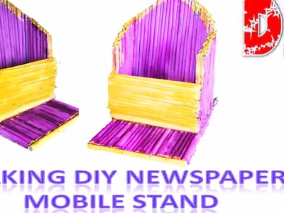 Newspaper Mobile Stand |  Simple And Eazy Paper Art | Crafts For Kids