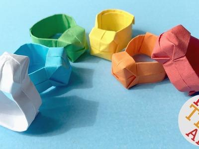Origami Ring DIY   Easy Paper Ring