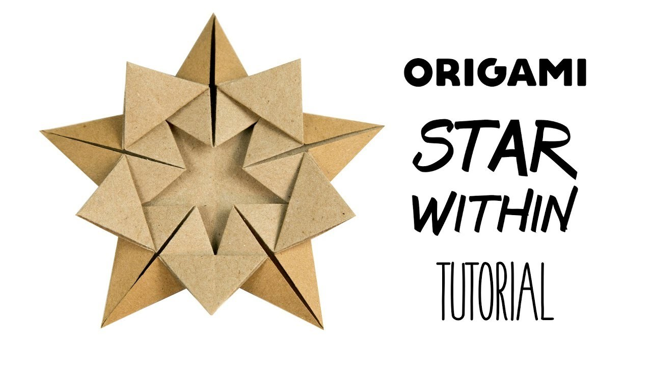 Origami origami 16 point ninja star no tape no music for How to make a big paper star