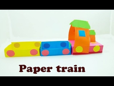 *Paper craft* Paper train craft for kids #Very Easy to make for everyone #just see Paper Magic