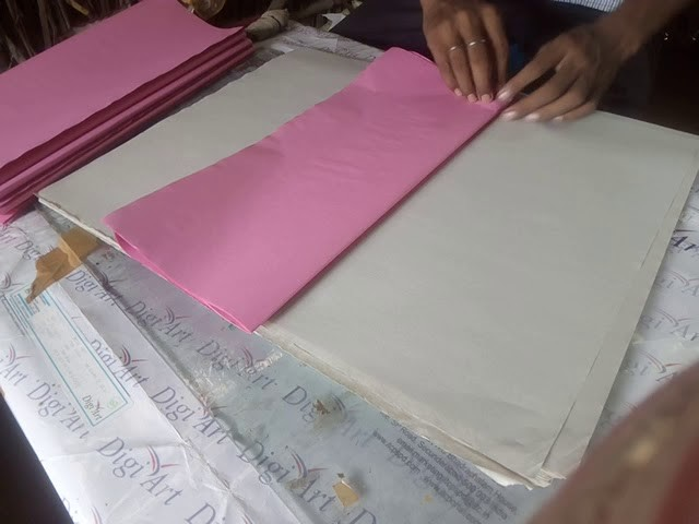 Paper cutting & Paper Folding - 1.6 Size For Bill. Cash-Memo. Paper Cutting in hand