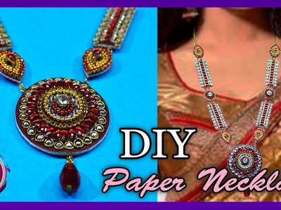 Paper  NECKLACE   Made up of paper & mount   Art with Creativity 264