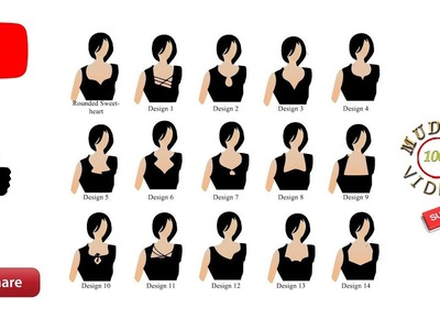 Simple dress neck designs for beginners # neck designs cutting on paper # part 95