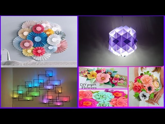 Top 10 Paper Crafts Paper Room Decor Ideas Diy Easy Party