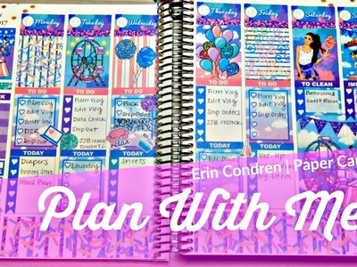 Vlogust Day 13: Plan With Me | Erin Condren Vertical Planner | Paper Candy Art