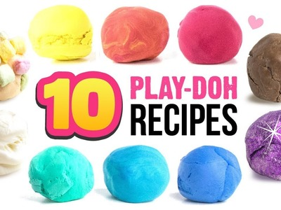 10 EASY Play-Doh Recipes!! DIY 5-Minute Soap Clay, Edible Clay, 2-Ingredient Clay and MORE!