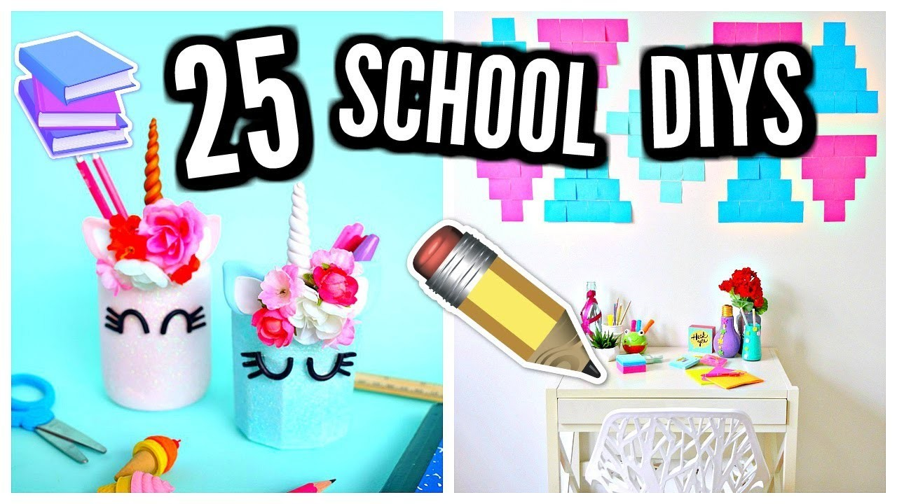 25 diy school supplies room decor 2017 2018 my crafts for Room decoration products