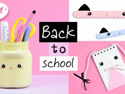3 DIY School Supplies! KAWAII Crafts for Back to School! Easy Back To School DIY Projects!