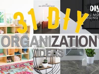 31 DIY Organization ideas