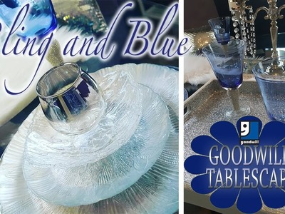August Tablescape | Must See DIY GOODWILL Bling Tray and Placemat!!!!!!