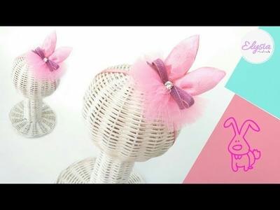 Bunny Ears Crown Headband Use Ribbon And Tulle   DIY by Elysia Handmade