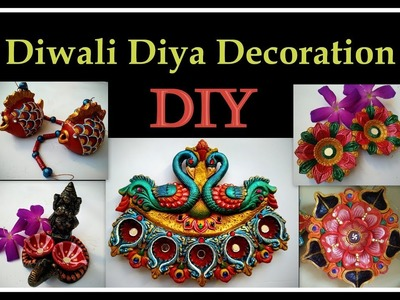 Diwali Diya Decoration ideas | How to color Diwali Diyas at home DIY