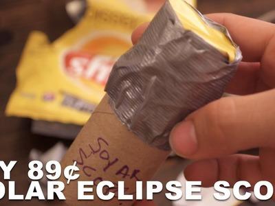 DIY $1 Dollar Solar Eclipse Scope - (Better than Projection Box?)