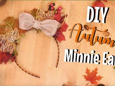 DIY Autumn Disney Minnie Ears ???????? (great for Halloween at Disney)