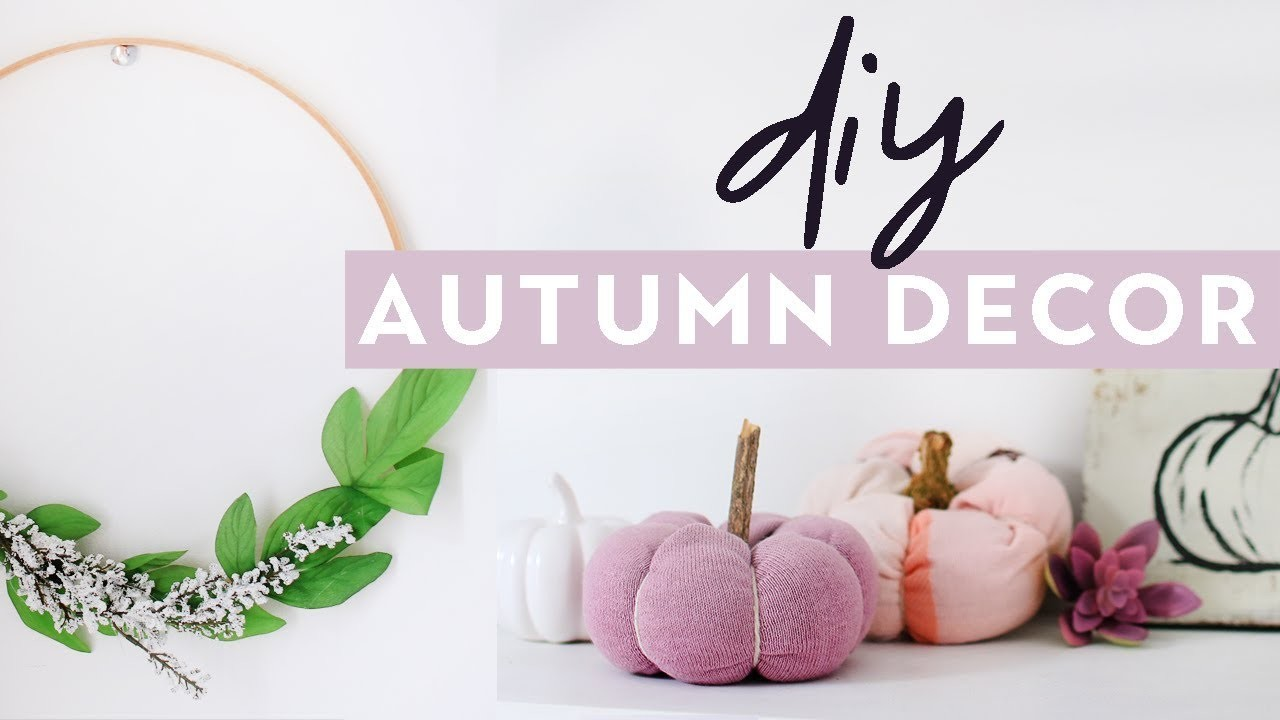 DIY Autumn Home Decor 2017   Cosy Fall Inspired Room Decor Projects