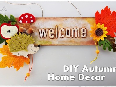 ???? ???? DIY Autumn Welcome Sign from Dollar Store ♡ Maremi's Small Art ♡