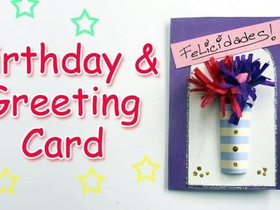 DIY Birthday & Greeting Card SUPER EASY -Ana | DIY Crafts