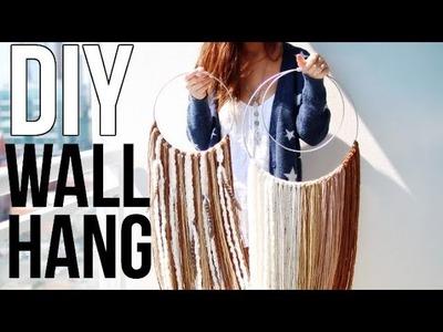 DIY BOHO WALL HANGING ➜ Free People Inspired Pinterest DIY || Sarah Belle