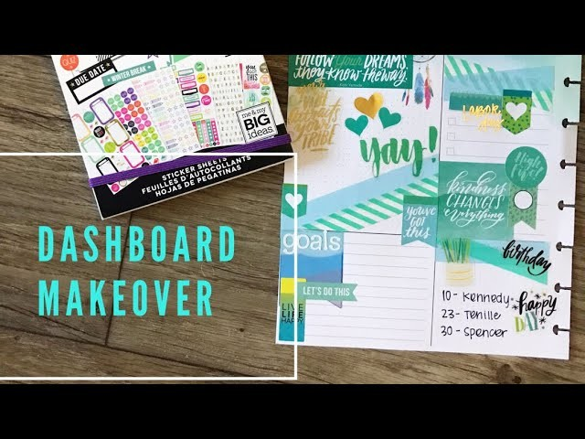 DIY Dashboard Makeover. September. CLASSIC Happy Planner