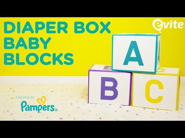 DIY Diaper Box Baby Blocks, Baby Shower Decorations, My ...