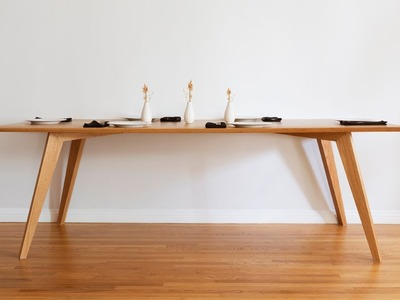 DIY Dining Table   Mid Century Modern - Woodworking