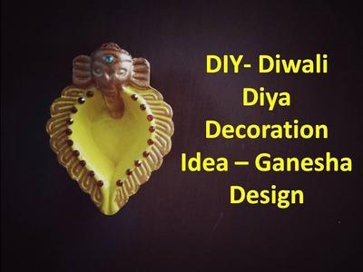 DIY- Diwali Diya decoration ideas | Ganesha Design | Kunal's Design 3