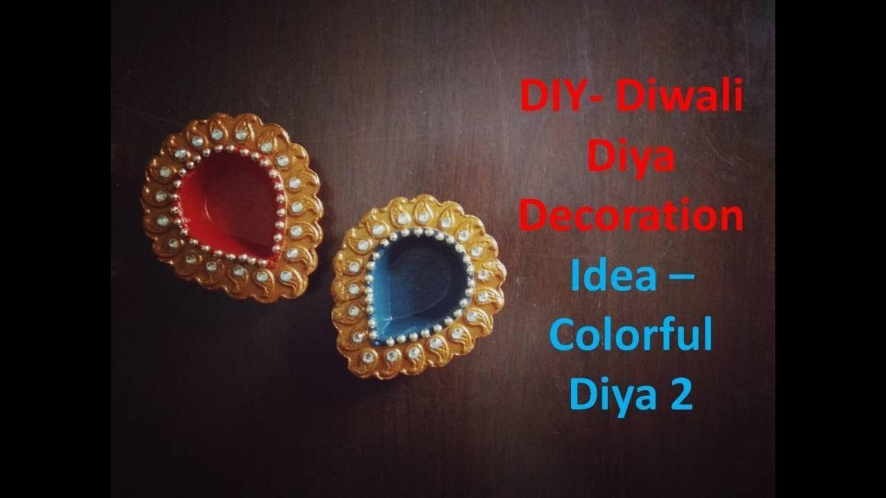 DIY- Diwali Diya Decoration Ideas | Colorfull Diya-2 | Kunal's Design 7