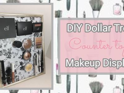 DIY Dollar Tree Counter Top Makeup Display. .
