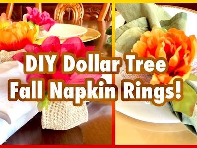 DIY Dollar Tree Fall Flower Napkin Rings