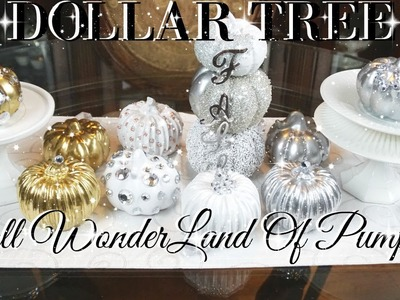 DIY DOLLAR TREE FALL GLAM PUMPKIN WONDERLAND DECOR ???? DIY GLAM HOME DECOR ???? FALL DECOR 2017 ????