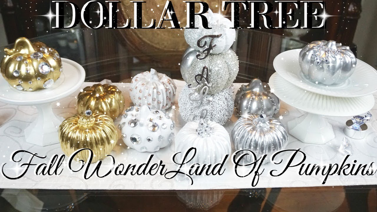 Diy Dollar Tree Fall Glam Pumpkin Wonderland Decor