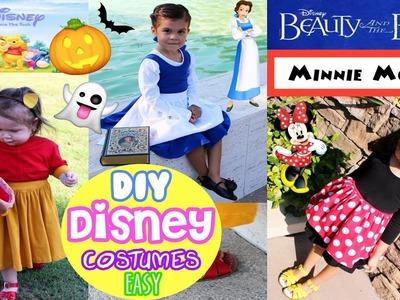 DIY EASY Kids Disney Character Halloween Costume Winnie The Pooh Minnie Mouse, Disney Princess Belle