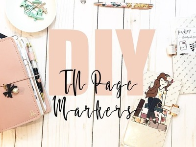 DIY: EASY TN PAGE MARKERS W. POCKETS!!!