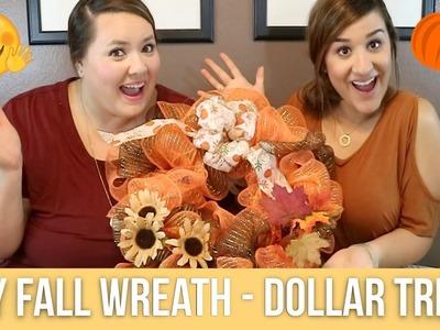 DIY - Fall Wreath - Dollar Tree