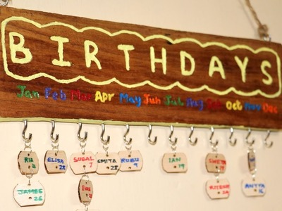 DIY Family Birthday Board   Wood Carving   Dremel Projects   Little Crafties