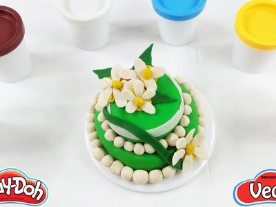 DIY Fondant Cake - How to Make Rainbow Play Doh Cake Play Doh Surprise Cake Play Doh Food Kitchen ????