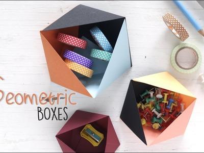 DIY Geometric Boxes