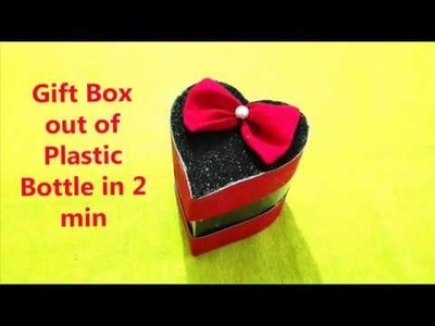 Diy gift box out of plastic bottle