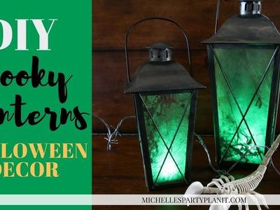 DIY Halloween Decor - Spooky Lanterns
