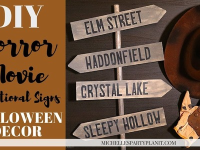 DIY Horror Movie Signs with the Cricut Explore Air 2 - Crafts for Beginners