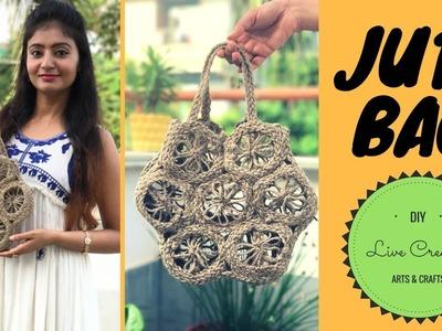 DIY Jute Bag | Make a Jute Rope Bag | Create a HandBag with Jute Rope by Live Creative